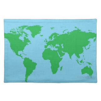 Illustrerad världskarta bordstablett