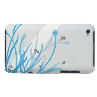 Illustrerad växt iPod touch hud