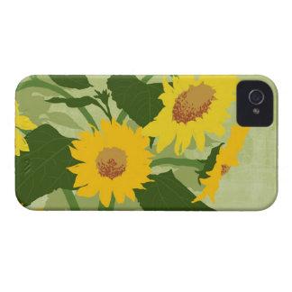 Illustrerade solrosor iPhone 4 hud