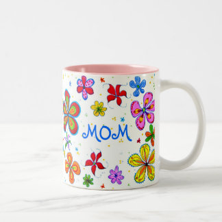 Illustrerade världs bäst mamma Två-Tonad mugg