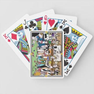 """Illustrerat leka för cykel """"för vilda spelkort"""