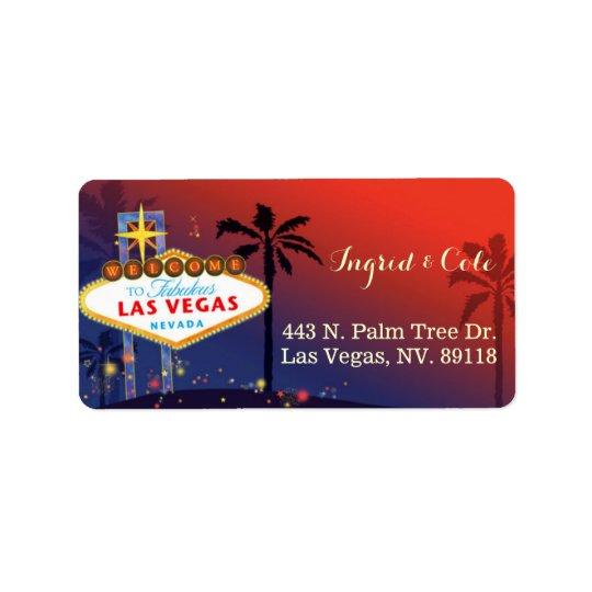 Illustrerat skymningLas Vegas bröllop Adressetikett