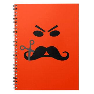 Ilsken anteckningsbok för mustaschSmileyanpassning