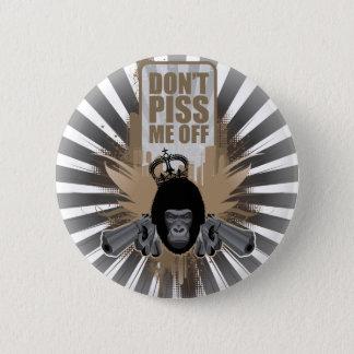 Ilsken apa med vapnet standard knapp rund 5.7 cm