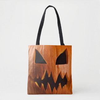 Ilsken halloween pumpa tygkasse