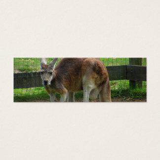 Ilsken känguru litet visitkort