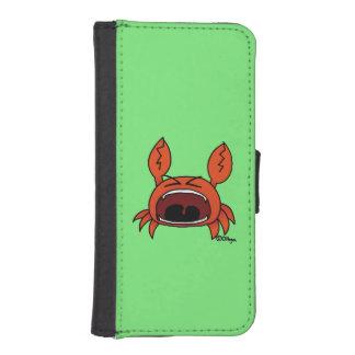 Ilsken krabba plånboksfodral för iPhone SE/5/5s