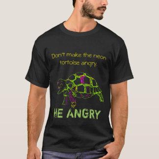 Ilsken sköldpadda - neonversion tee shirts