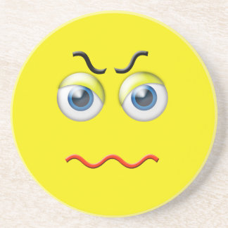 Ilsket ansikte Emoji Underlägg För Glas