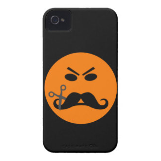 Ilsket fodral för mustaschSmileyblackberry bold iPhone 4 Fodraler