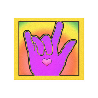 ILY älskar jag dig färgharmoni II Canvastryck