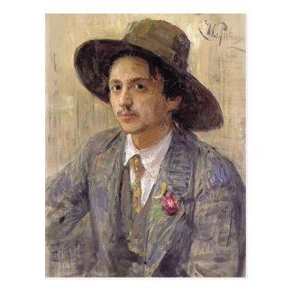 Ilya Repin-Porträtt av målare Isaak Brodsky Vykort
