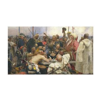 Ilya Repin svar av de Zaporozhian cossacksna Canvastryck