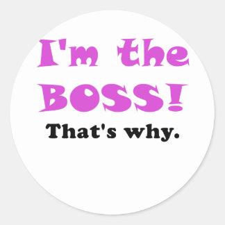 Im chefen som är varför runt klistermärke