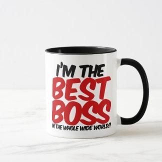 im den bäst chefen i den hela breda världen mugg