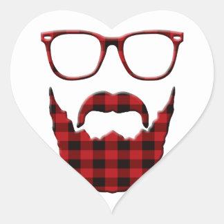 im inte en hipster hjärtformat klistermärke