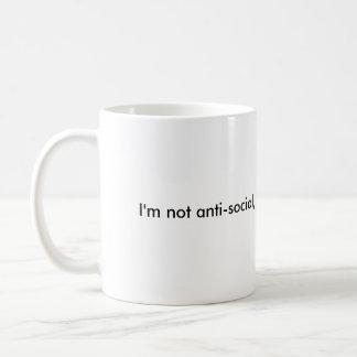 I'm not anti-social,  I'm just not user friendly Kaffemugg