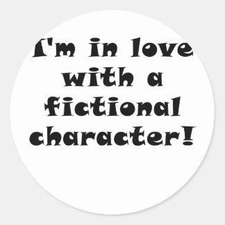 Im som är förälskad med ett fictional tecken runt klistermärke