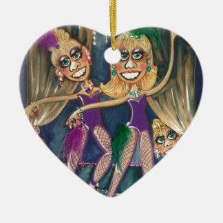 image.jpg som dansar purpurfärgade drottningar julgransprydnad keramik