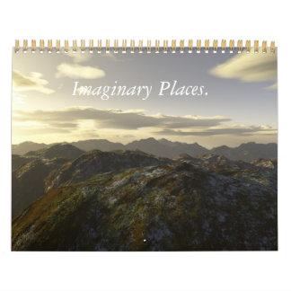 Imaginär ställen. 2011 Calander. Kalender