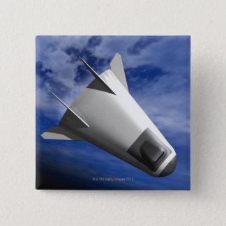 Imaginärt rymdskepp standard kanpp fyrkantig 5.1 cm