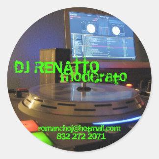 IMG_0415 DJ RENATTO som är moderato, 832 272 2071, Runt Klistermärke