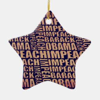Impeach Barack Obama Stjärnformad Julgransprydnad I Keramik