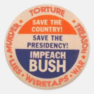 Impeach den Bush klistermärken
