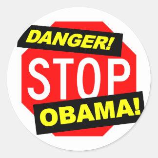 Impeach den Obama klistermärken (nobamabildekal)