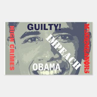 Impeach klistermärken för Obama kickbrott