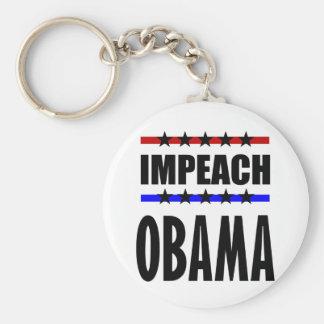 Impeach Obama Rund Nyckelring