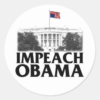 Impeach Obama Runt Klistermärke