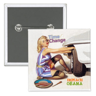 Impeach Obama Standard Kanpp Fyrkantig 5.1 Cm