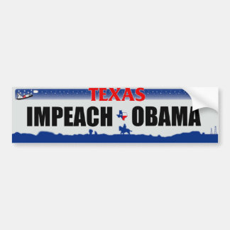 Impeach Obama - Texas Bildekal