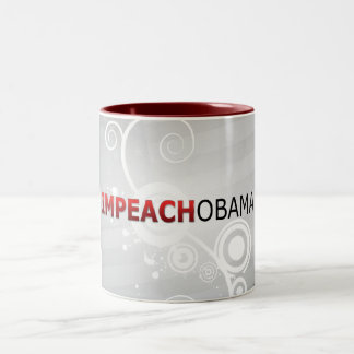 Impeach Obama Två-Tonad Mugg