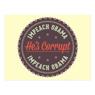 Impeach Obama Vykort