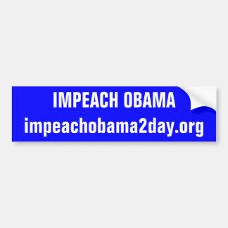 IMPEACH OBAMAimpeachobama2day.org Bildekal