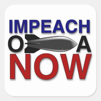 """Impeach """"oBOMBaen"""" Obama Fyrkantigt Klistermärke"""