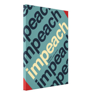 Impeach presidenten Barack Obama Canvastryck