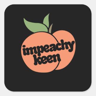 impeachy intensivt fyrkantigt klistermärke