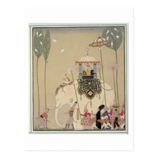 Imperialistisk procession (färglithoen) vykort