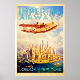 Imperialistiska flygbolag London & New York Poster