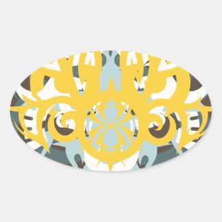 Imperious abstraktion nio ovalt klistermärke