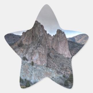 Imponeras monoliter stjärnformat klistermärke