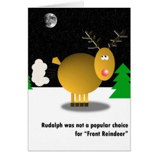 Impopulär julkort hälsningskort