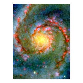 Impressionistbubbelpoolgalax Vykort