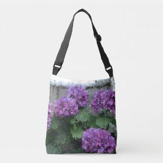 Impressionistic vanlig hortensia axelväska