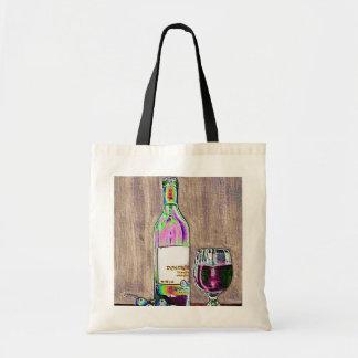 Impressionistic vin- och druvakonst tygkasse