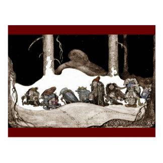 In i julnatten Tomte-Nisse Vykort