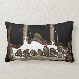 In i vinternatten dekorativ kudde